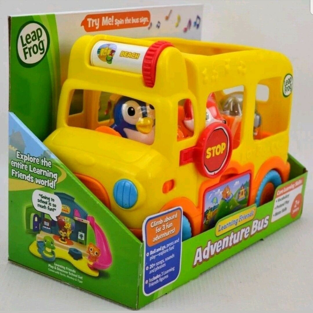 NEW Leap Frog Learning Friends Adventure Bus Core Learning Skills with Figures image 2