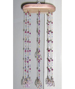 Custom Made! Flower Bead Chime Delicate pastel  Lavender Bead Chime Glass  - $49.95
