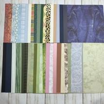 "Lot 80 8"" x 12"" Scrapbook Paper Card Stock 2 each Plaid Stripes Patterned   - $16.34"
