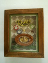 CASINO ROULETTE GAMBLING WALL ART SIGN 3D RAISED SHADOW DISPLAY 10x8, NEW - $18.76