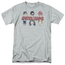 Justice League DC Heroes T-shirt Batman Superman superfriends grey cotton DCO819 image 2