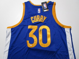 STEPHEN CURRY / AUTOGRAPHED GOLDEN STATE WARRIORS BLUE PRO STYLE JERSEY / COA