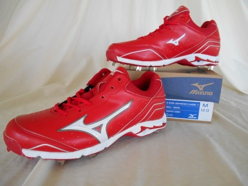 16ed3eae09 Mizuno 320431 9 Spike Advanced Classic 7 Mens Metal Cleat Red / White, Size  12 - $44.99 · Advanced search for Mizuno Baseball Cleats
