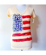 NWT New Disney World Disneyland USA American Flag Mickey Womens Top Shir... - $29.99