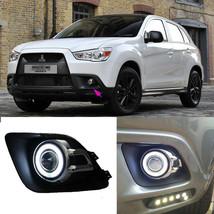 For Mitsubishi ASX High Quality LED COB Angel Eyes Lamp Projector Lens Foglights - $98.01