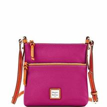 Dooney & Bourke Pebble Grain Letter Carrier Magenta - $169.00