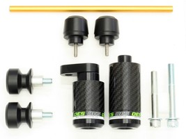 OES Carbon Frame Sliders & Delrin Spools Fork Sliders 07 08 Kawasaki ZX6R No Cut - $134.99