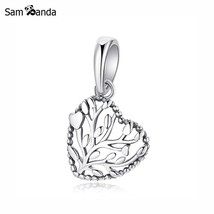 Buy Original 100% 925 Sterling Silver Charm Bead Flourishing Hearts Pendant - $9.99