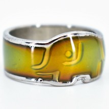 Baby Elephant Shape Children's Color Changing Fashion Mood Ring image 2