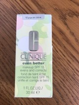 G Clinique Even Better Makeup SPF 15 Evens And Corrects 12 Ginger M/ O/D-N - $44.73