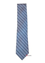 Club Room Men's Neck Tie Medium Blue and White Stripes 100% Silk $49.50 - $19.80