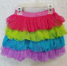 Dollie And Me Girls Ruffled Tutu Skirt Pink Green Blue Purple XSmall - $9.00