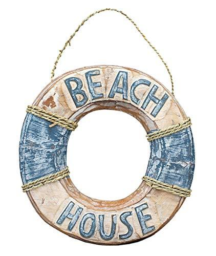 Primary image for Wooden Life Buoy Beach House Sign