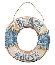 Wooden Life Buoy Beach House Sign - $17.95