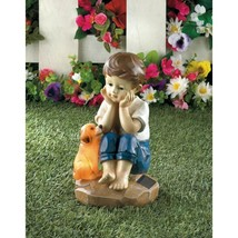 MY PUP AND I SOLAR FIGURINE - £19.88 GBP