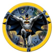 Batman Round Dessert Plates by Unique 8 Per Package Birthday Party Supplies New - $3.07