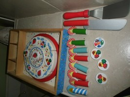 Melissa & Doug Wooden Happy Birthday Party Cake Pretend Play 28 pc in tray - $8.90
