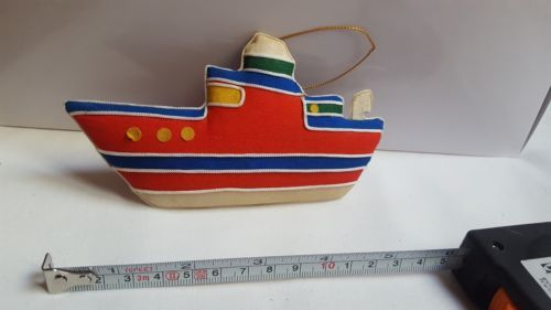 Primary image for Christmas Cabin Boat Fabric Xmas tree holiday Ornament Decoration vintage decor
