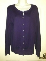 LOFT Ann Taylor Purple Cardigan Sweater Button Down  Size: Large - $27.72