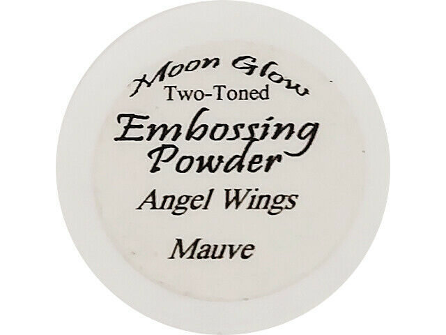 Moon Glow Two-Toned Embossing Powder Angel Wings Mauve