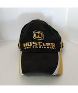 Black Hustler Turf Equipment Logo Embroidered Trucker Hat Cap Adjustable  - $9.90