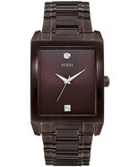 BRAND NEW GUESS U0102G1 BROWN STAINLESS STEEL DIAMOND ACCENT DIAL MEN'S ... - €87,99 EUR