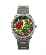 Watch wristwatch stainless steel grinch christmas - $21.00