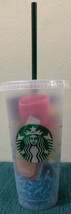 Starbucks Reusable Frosted Plastic 24 Oz Cold Drink Gift Cup - $20.00