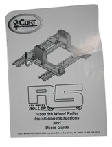 Curt Manufacturing R5 5th Wheel Roller, 16500, Install Instructions & User Guide