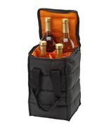 Wine Bottles Carrier Beach Picnic Cooler Travel Tote Bag Zippered Case H... - $11.51