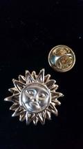 gold sun   tie pin, Lapel Pin Badge, in gift box detailed design