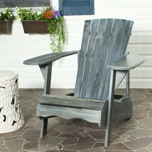 Safavieh Outdoor Living Mopani Adirondack Ash Grey Acacia Wood Chair - $171.41
