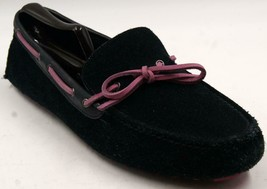 Cole Haan Air Grant Men's Driving Moccasin Loafers Black/Pink Suede 11.5... - $61.74