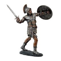 Medieval Warrior Knight In Furious Battle Roman War Collectible Figurine 9H - £19.15 GBP