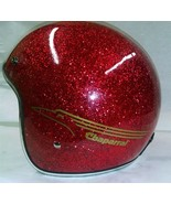 New Retro Style Vintage Chaparral Snowmobile Helmet Choose Size Red Metalflake - $115.00