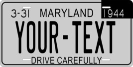 Maryland 1944 License Plate Personalized Custom Car Bike Motorcycle Moped Tag - $10.99+
