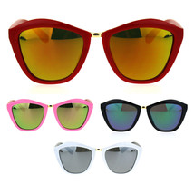 Girls Kids Size Colored Mirror Butterfly Cat Eye Designer Plastic Sungla... - $9.95
