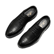 Leather Office Shoes For Men Driving Moccasins Comfortable Lace Up Shoes - $49.07 CAD