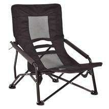Outdoor High Back Folding Beach Chair-Black - $48.94