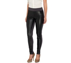 Women with Control Leather Tushy Lifter Legging... - $43.54