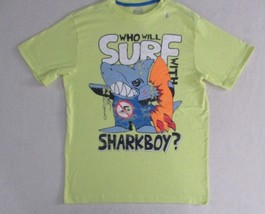 Old Navy Boys T Shirt XL Yellow Graphic Short Sleeve Crew Cotton Polyester 1823 - $5.95
