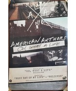 American Authors 'Oh, What a Life' Promo Music Poster 17 x 11 new - $12.95