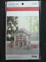 RECOLLECTIONS CHRISTMAS HOLIDAY HOUSE EMBELLISHMENT KIT 78 PCS. - $4.99