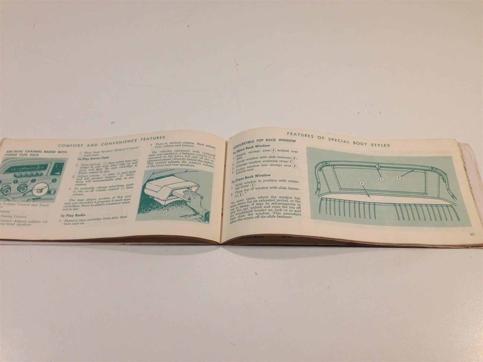 1970 Ford Car Owner's Manual Glovebox Original
