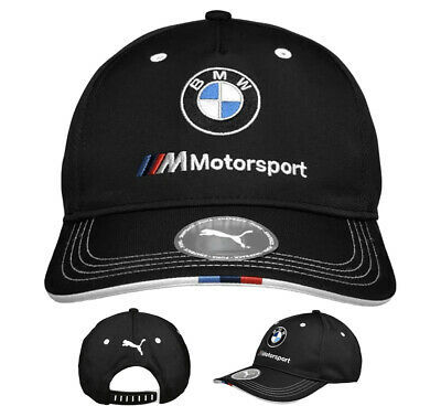 PUMA BMW M BB Motorsport Logo Strap Back Cap Black Baseball Hat 022536 01
