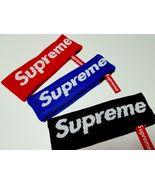 Supreme x New Era Red Blue Black Fleece Classic Logo Headband FREE FAST ... - $27.95