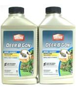 2 Pk Ortho Deer & Rabbit B Gon Long Lasting Concentrate Liquid Repellent 32oz  - $27.88