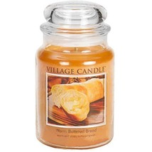 Village Candle Warm Buttered Bread 26 oz Glass Jar Scented Candle, Large - $21.98
