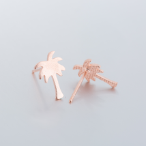 5 pairs of Maple Leaves Rose Gold Plated Stud Earring Stud (NED244B) - $12.50