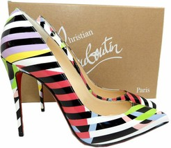 Christian Louboutin  Pigalle Follies  Leather Pointed Toe Pumps Shoes 38.5 - €444,39 EUR